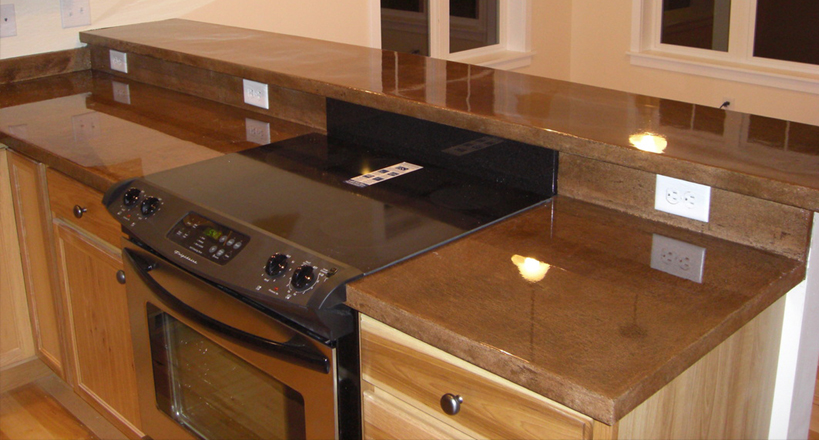 EPOXY COUNTERTOPS IN ROCKFORD. STAINED CONCRETE IN ROCKFORD